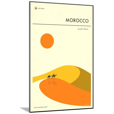 Visit Morocco Wood Mounted Print Wall Art By Jazzberry Blue