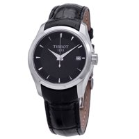 Tissot T-Classic Couturier Quartz Black Dial Ladies Watch