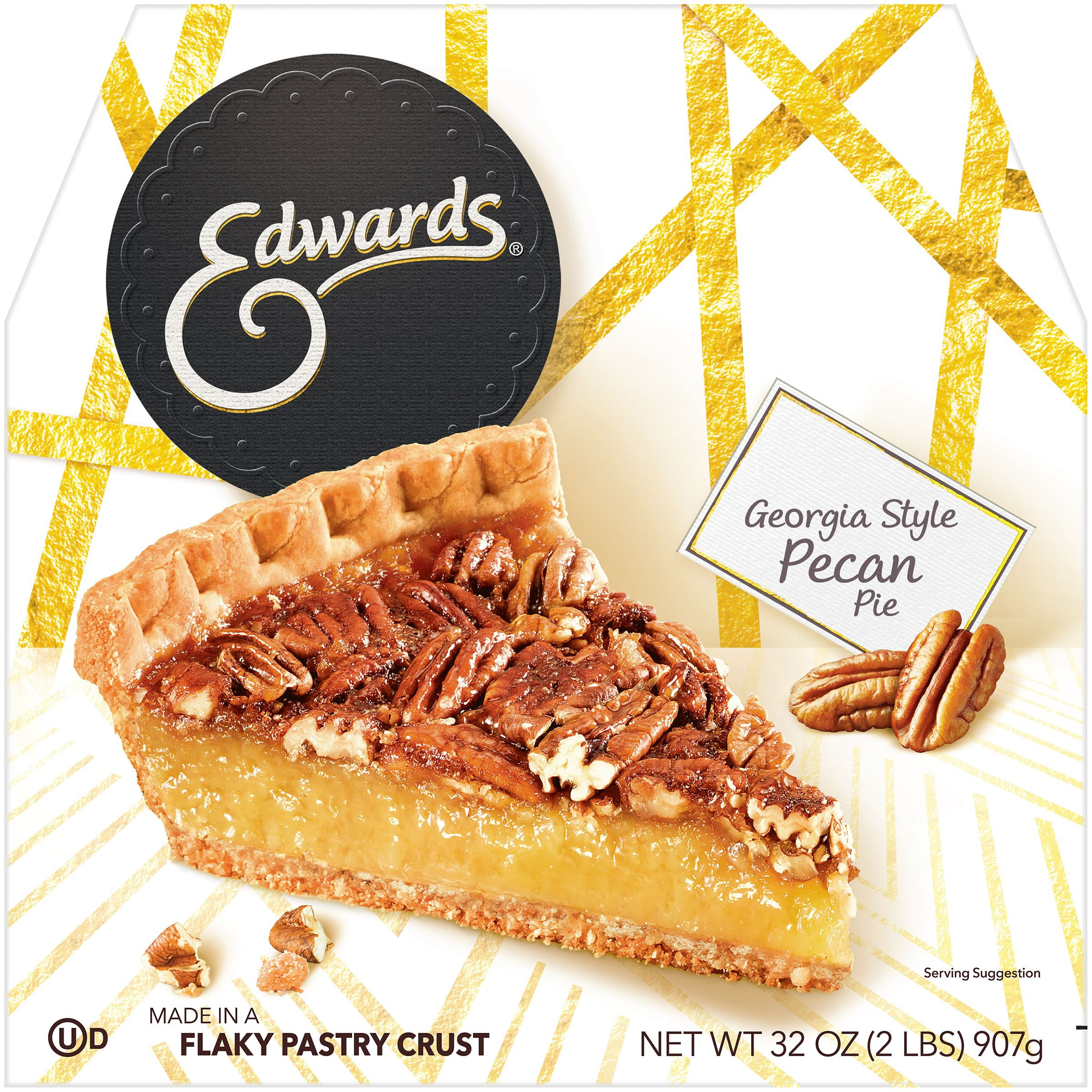 edwards georgia pecan pie 32 oz box walmart com