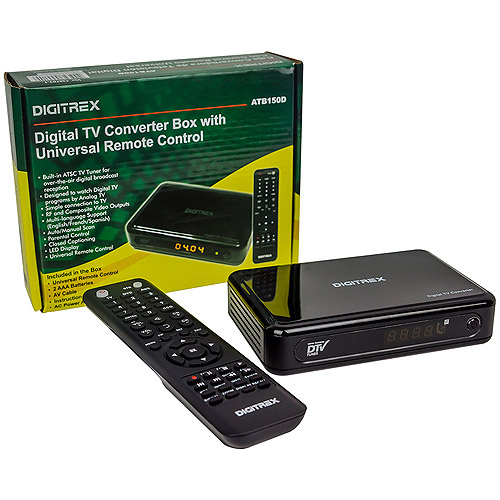 Digitrex Digital-Analog Converter Box with Learning Universal Remote Control, ATB150D