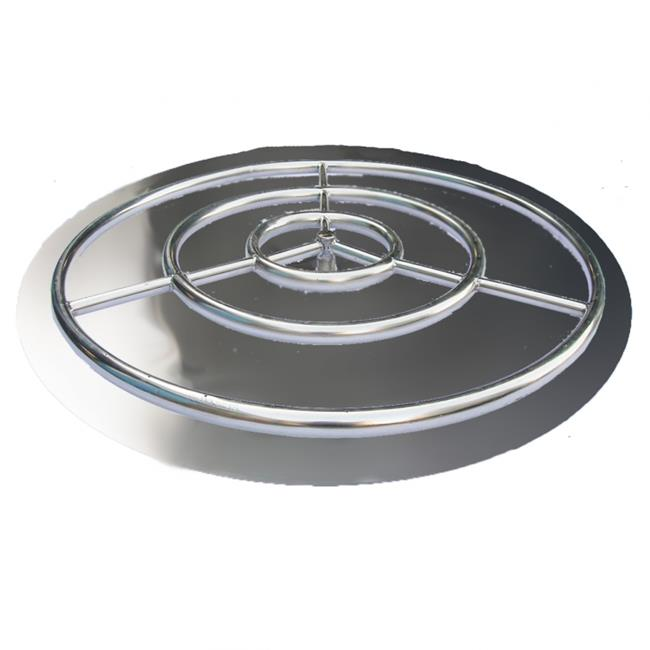 HearthDistribution FPK-OBRSS-36R 36in SS Fire Pit Ring Burner with Pan