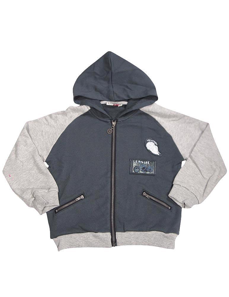 Wild Mango Toddler and Boys Sizes 2T - 8 Fashion Hoodie Zip-Up Sweatshirt Jacket, 32048 black / 3T