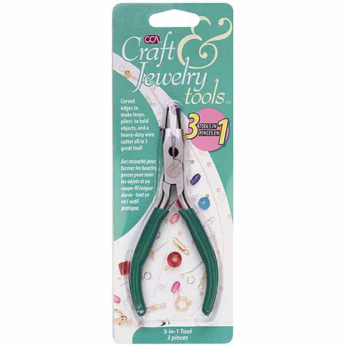 Craft and Jewelry 3-in-1 Pliers, 3""