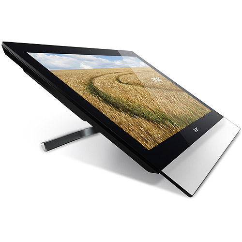 """Acer Touch 27"""" LCD Monitor (T272HUL bmidpcz, Black)"""