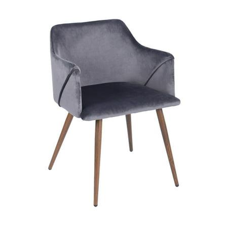 FurnitureR Dining Room Upholstered arm chair (2-piece set),GREY - image 2 de 8