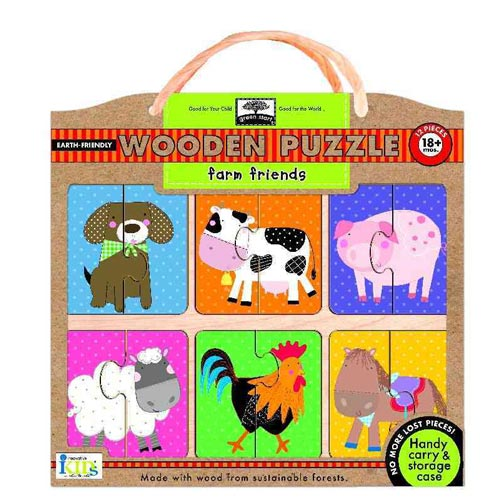 Green Start Farm Friends Wooden Puzzle