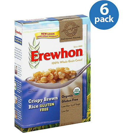 Erewhon Gluten Free Crispy Brown Rice 100% Whole Grain Cereal, 10 oz (Pack of 12)