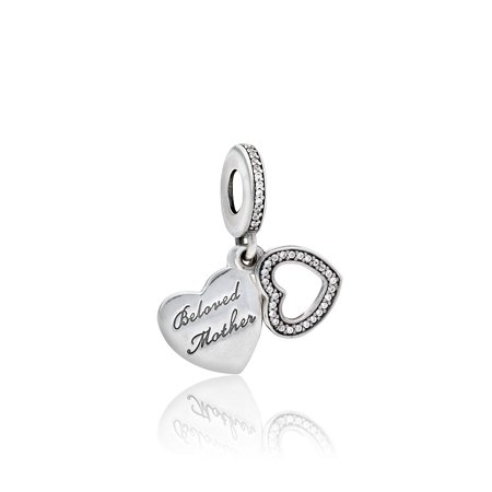 Pandora Sterling Silver Beloved Mother Dangle Charm