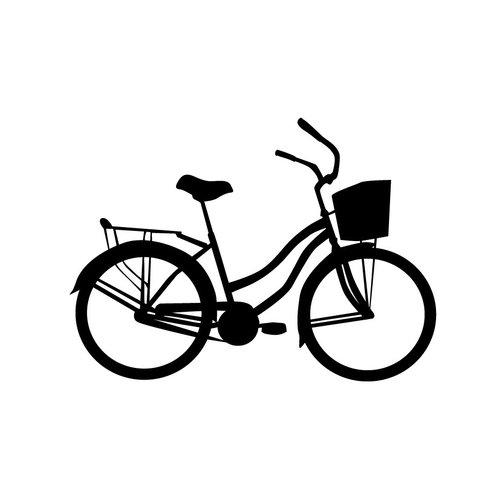 Dana Decals Tiny Bicycle Cruiser Bike with Basket Wall Decal (Set of 30)