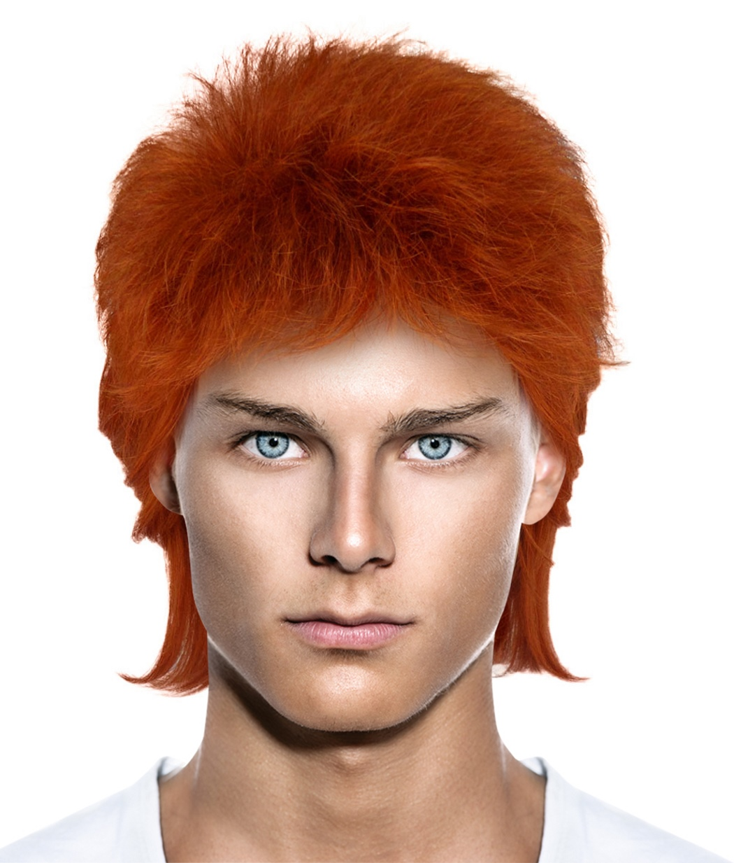 David Bowie Glam Rocker Costume Wig