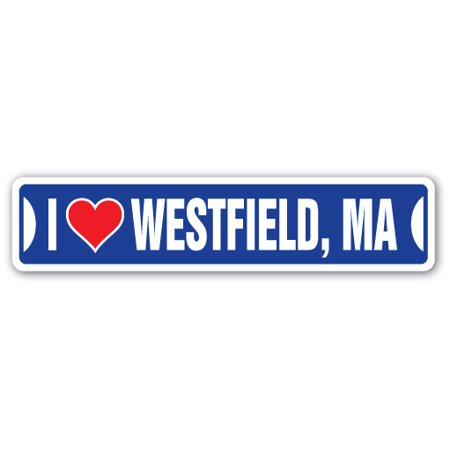 City Of Quincy Ma (I LOVE WESTFIELD, MASSACHUSETTS Street Sign ma city state us wall road)