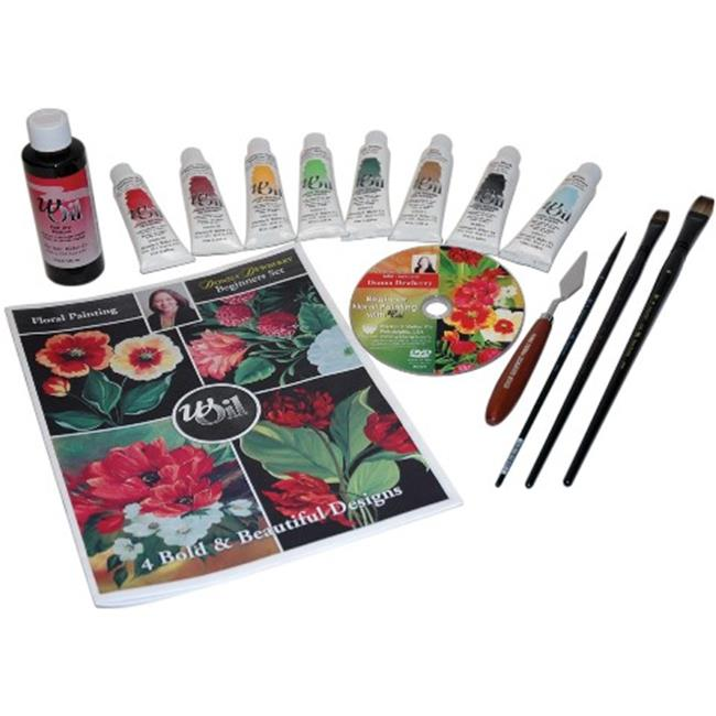 Martin F.  Weber DD7460 Donna Dewberry Beginners Floral Painting Oil Set