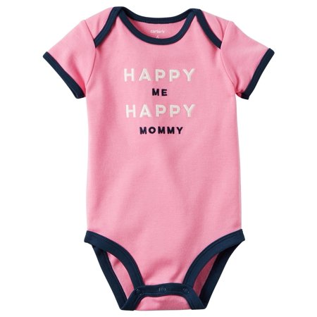 Carter's Baby Girls' Happy Mommy Collectible Bodysuit, 12 Months