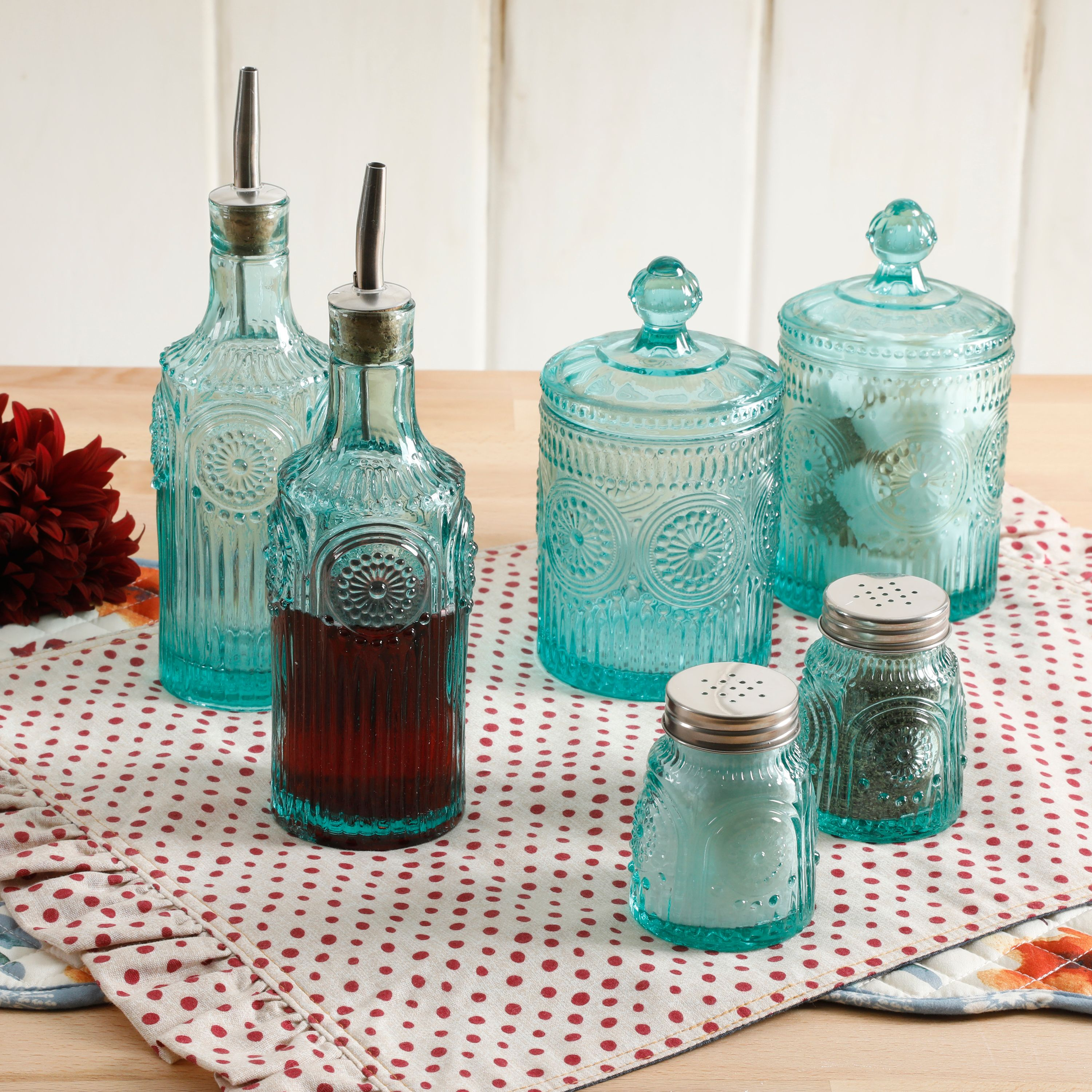 The Pioneer Woman Adeline 6-Piece Condiment Set, Multiple Colors