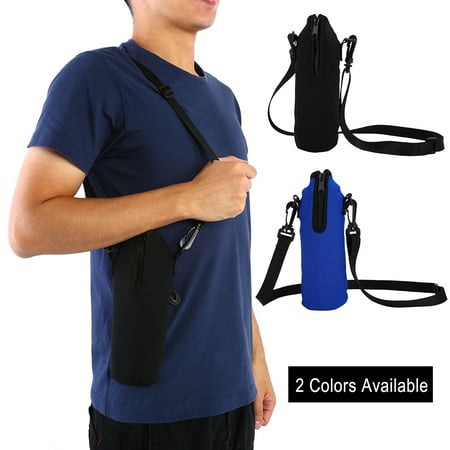 Outdoor Sports Water Bottle 1L Thermal Holder Bag Scald-Proof Case Cover Sleeve with Strap, Water Bottle Case,Water Bottle Holder](Water Bottle Holder)