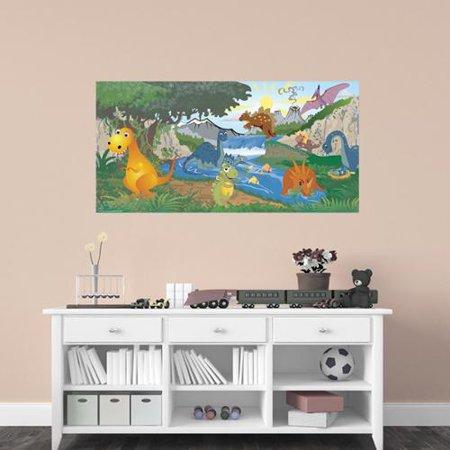 mona melisa designs peel and stick dinosaur mural. Black Bedroom Furniture Sets. Home Design Ideas