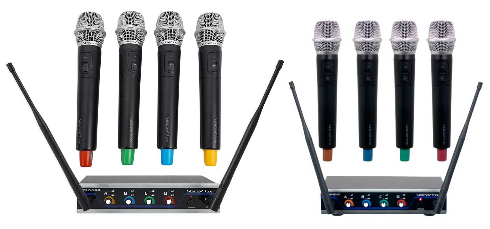 (2) VOCOPRO Four-Channel UHF Digital Wireless Handheld Microphone Mics Systems by VocoPro