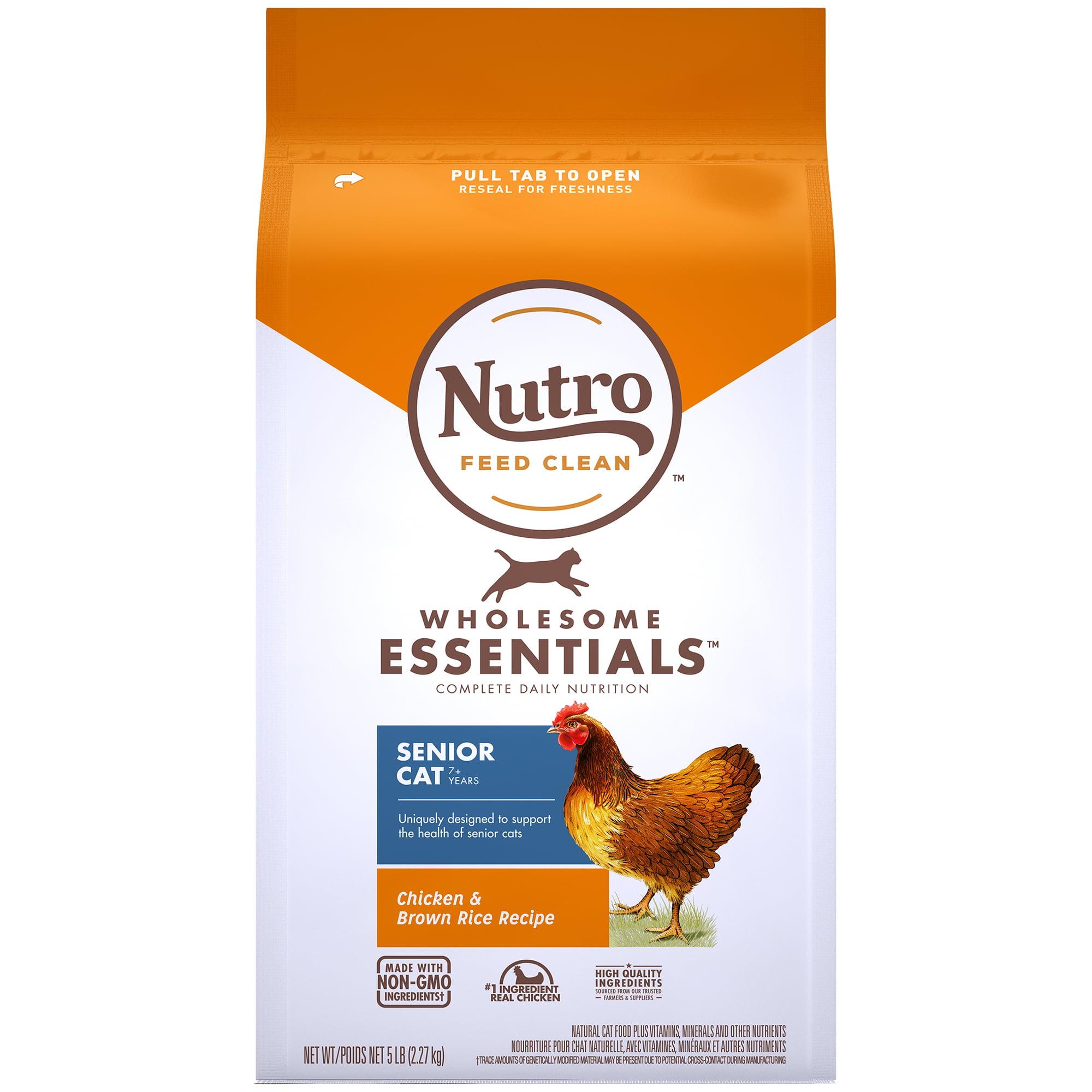 Nutro Wholesome Essentials Natural Dry Cat Food, Senior ...