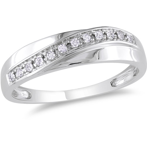 Men's Diamond-Accent Fashion Ring in 10kt White Gold