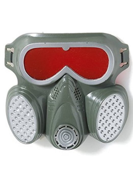Biohazard Zombie Gas Mask Hazmat Toxic Face Undead Grey Costume Adult by Forum Novelties