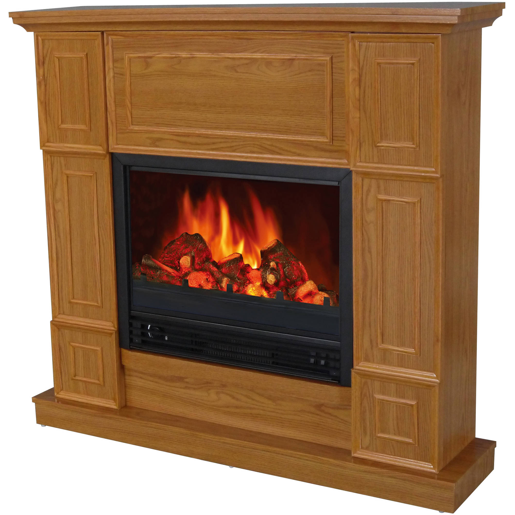 "Decor-Flame Electric Fireplace with 44"" Mantle by Electric Fireplaces"