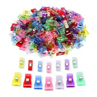 IPOW 100pcs Sewing Clips Binding Clips Wonder Clips Quilt Clips Plastic Craft Clips for Sewing, Crochet, Knitting, Quilting Notions, Assorted Color, 70 Small 30 Medium