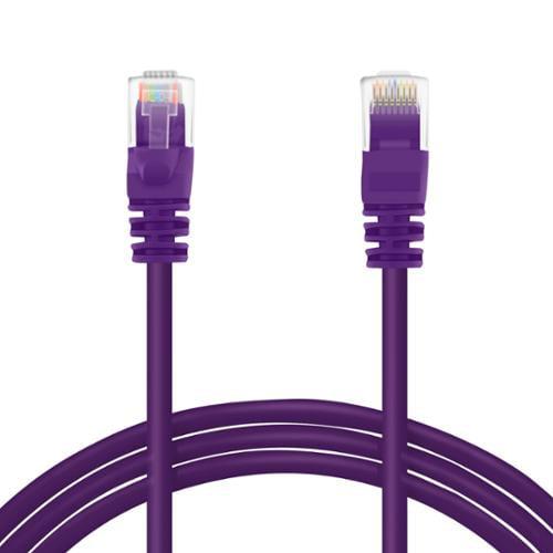 GearIt Cat5e Cat 5 Ethernet Patch Cable 30 Feet - Snagless RJ45 Computer LAN Network Cord, Purple [Lifetime Warranty]