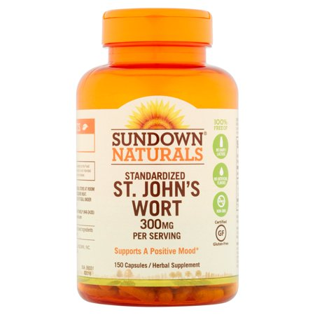 Sundown Naturals Millepertuis supplément de fines herbes capsules, 300 mg, 150 count