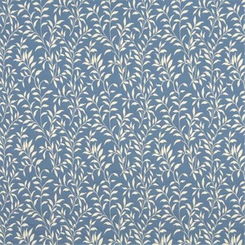 Designer Fabrics F414-B 54 inch Wide Blue And Beige Floral Matelasse Reversible Upholstery Fabric