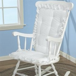rocking chair cushion sets Baby Doll Eyelet Rocking Chair Cushion Set   Color White   Walmart.com rocking chair cushion sets