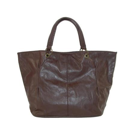 Size one size Women's  Double Handle Tote Handbag, Brown (Double Handle Handbags)