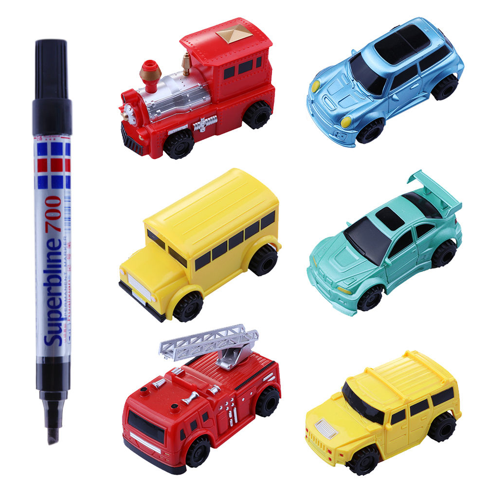 Magic Mini Pen Inductive Toy Vehicles Car Model Follow Any Draw lines Toys For Children... by GlowSol