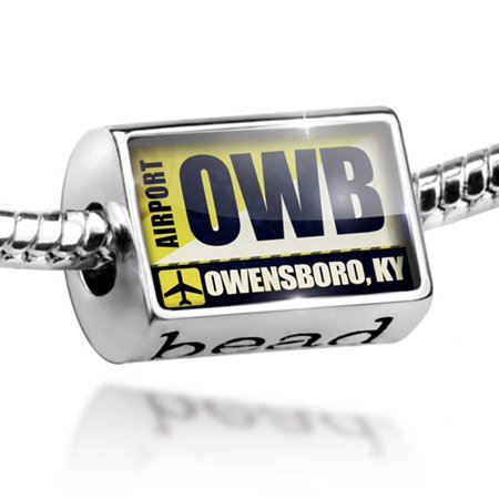 Bead Airportcode OWB Owensboro, KY Charm Fits All European Bracelets ()