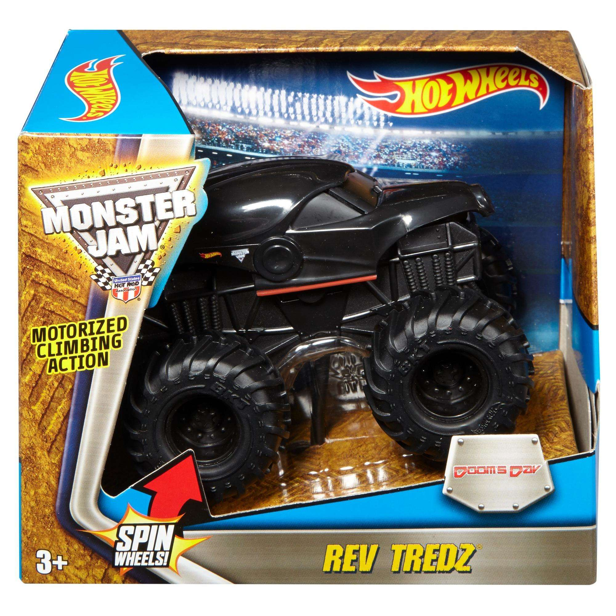 Hot Wheels Monster Jam Rev Tredz Doom's Day Vehicle 1:43 Scale Vehicle