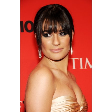 Lea Michele At Arrivals For Time 100 Most Influential People In The World Annual Gala Canvas Art     16 X 20