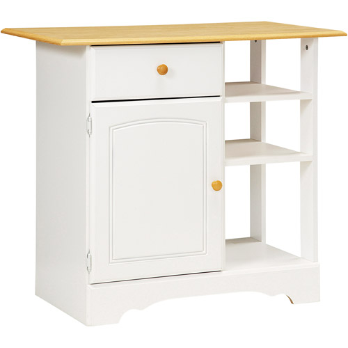 New Visions by Lane Kitchen Essentials Island, White Finish