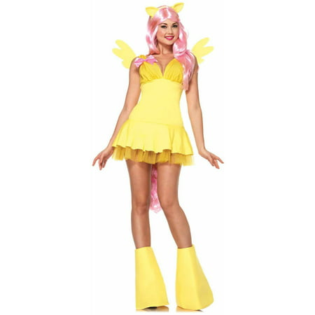 Leg Avenue 6-Piece Fluttershy My Little Pony Adult Halloween Costume - Pony Maker Halloween