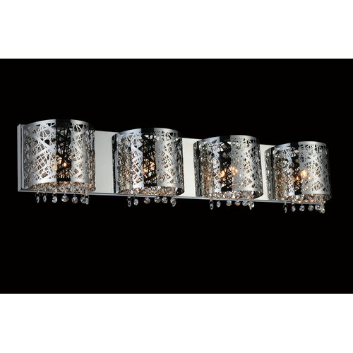 Crystal World 4 Light Wall Sconce