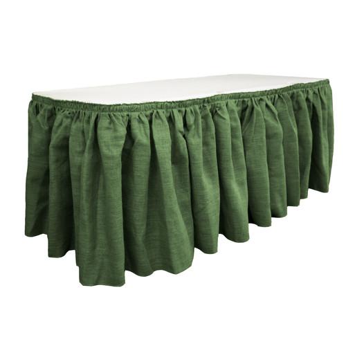 LA Linen Burlap Table Skirt by