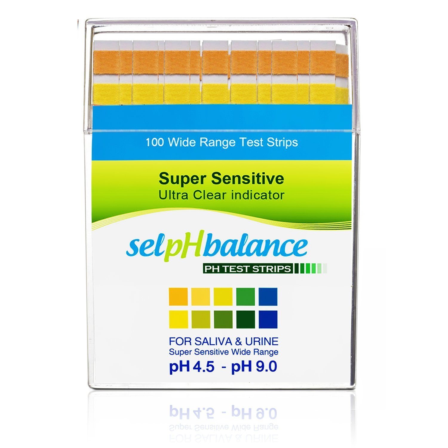 pH Test Strips- pH Scale 4.5-9, Track and Monitor Your Healthy Alkaline Diet By Using Saliva & Urine. Also, Test Quality for Drinking Water & All Liquids. Results in Seconds For pH Balance. 100ct