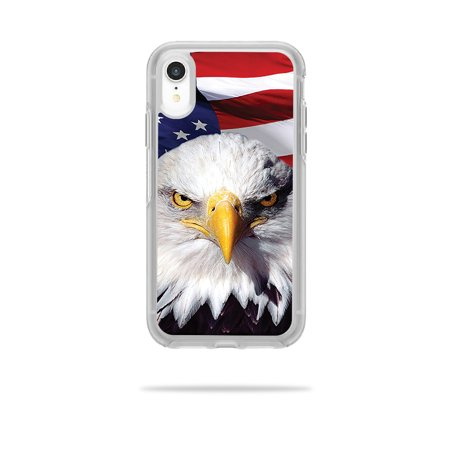 MightySkins Skin for OtterBox Symmetry iPhone XR Case - America Strong | Protective, Durable, and Unique Vinyl Decal wrap cover | Easy To Apply, Remove, and Change Styles | Made in the USA