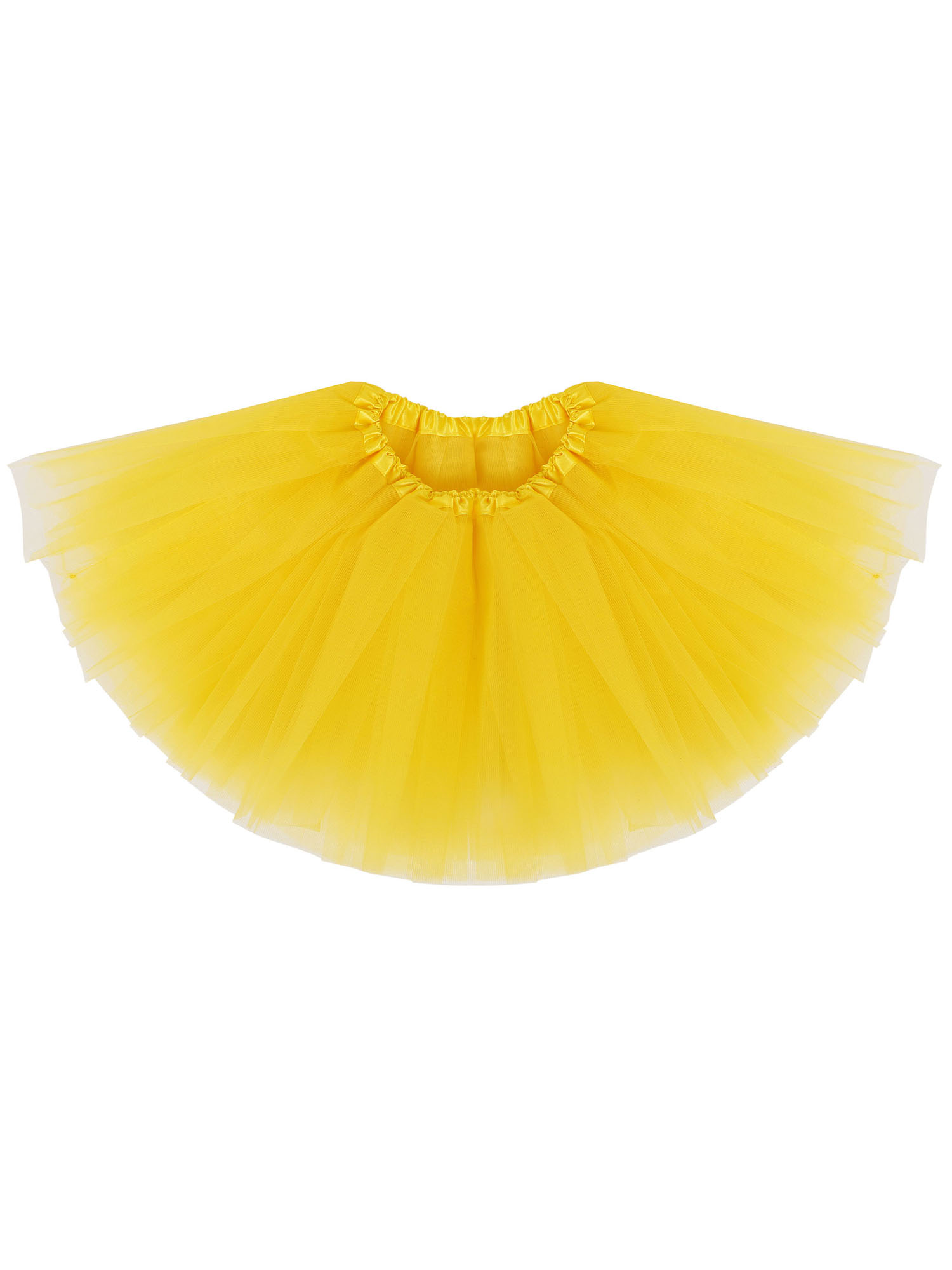 Simplicity Baby 5 Layered Tulle Tutu Skirt for Dress Up & Fairy Costumes,Yellow