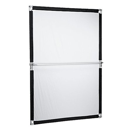 Reflector Scrim (Pro Studio Solutions 140x200cm (55.25x78.75in) Sun Scrim - Collapsible Frame Diffusion & Silver/White Reflector Kit with Handle and Carry Bag )