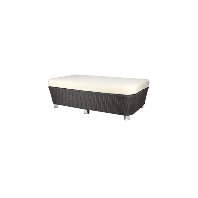 Source Outdoor SO-2003-143-ESP St Tropez Large Ottoman Rectangular Shaped in Espresso by Source Outdoor