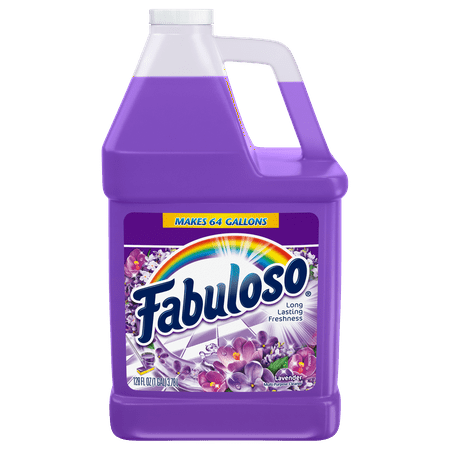 Fabuloso All Purpose Cleaner, Lavender - 128 fluid ounce (1 gallon) (Watermelon Cleaning Supplies)