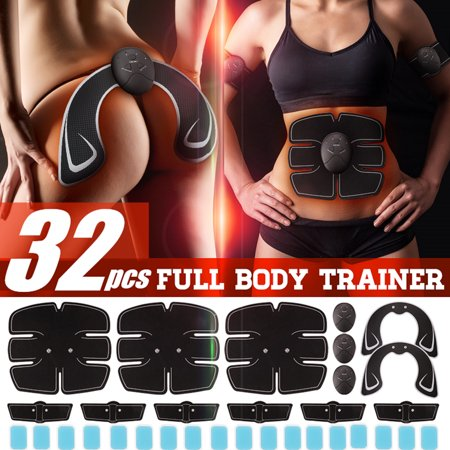 32Pcs/Set All Series Body Muscle Training Professional EMS Wireless Body Gym Workout Toner For Arm / Leg / ABS / Back / Hip (With Replacement Gel) ()