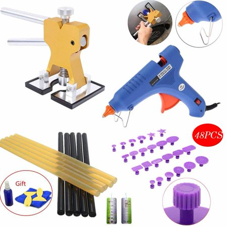 Paintless Dent Repair Tools Kit - Grip PRO Dent Lifter with Pulling Tabs Suction Cup Dent Puller Car Dent Repair Tools for Vehicle SUV Car Hail Damage Remover
