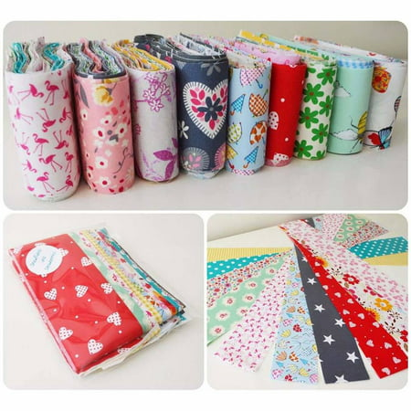 30pcs Flower Dot Stripe Cotton Cloth Diy Sewing Patchwork Quilting Doll Cloth Handmade Needlework Fabric - image 2 de 9