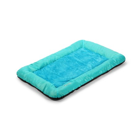 Deluxe Bolstered Pet Bed for Dogs or Cats. Large - Navy/ Blue