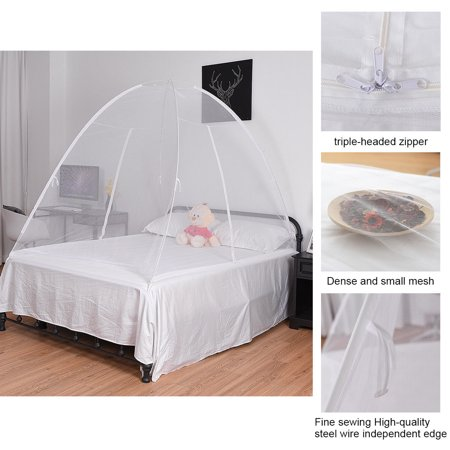 Gymax Portable Folding Mosquito Net Tent Bed Anti Zipper Mosquito Bites POP UP Net - image 2 de 9
